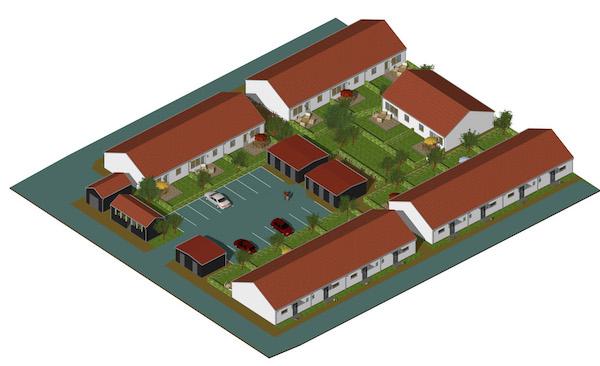 16 st marklägenheter i Örkelljunga